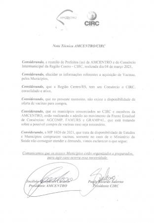NOTA TÉCNICA AMCENTRO/CIRC