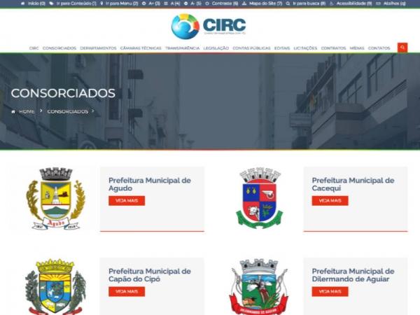 Novo website do Consórcio Intermunicipal da Região Centro está no ar